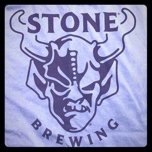 New XL Stone Brewing blue shirt Gargoyle